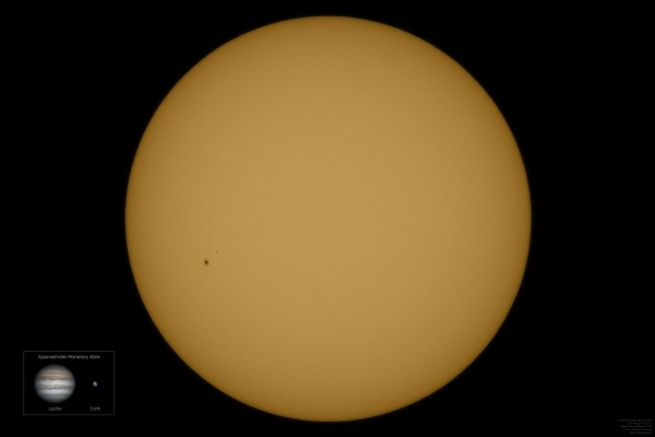 Solar Disc featuring Sunspot 2670