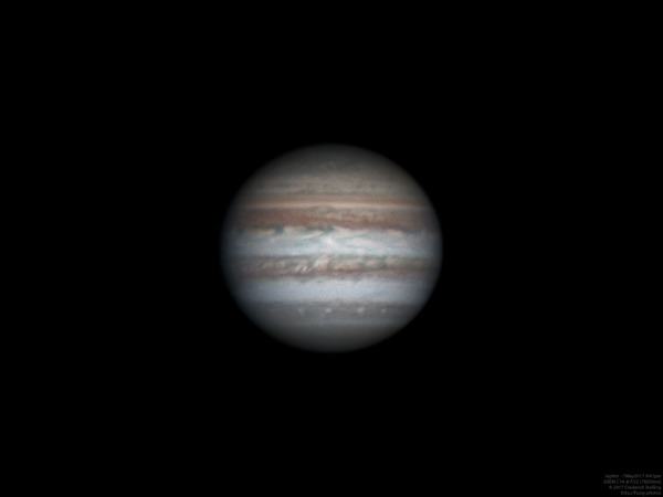 "Jupiter through 14"" at 7820mm (07May2017)"